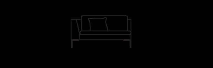 Lyng135_sofa_module_ArmLeft_yggoglyng
