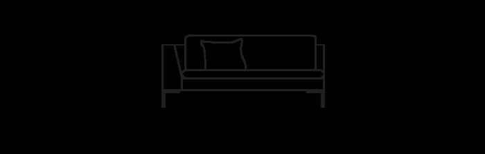 Lyng160_sofa_module_armLeft_yggoglyng