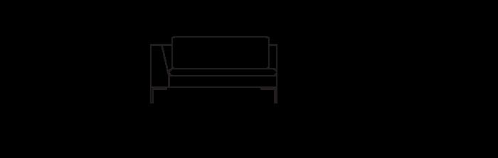 Lyng140_sofa_module_ArmLeft_yggoglyng