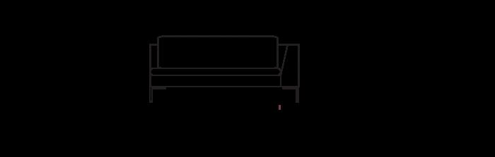 Lyng160_sofa_module_ArmRight_yggoglyng